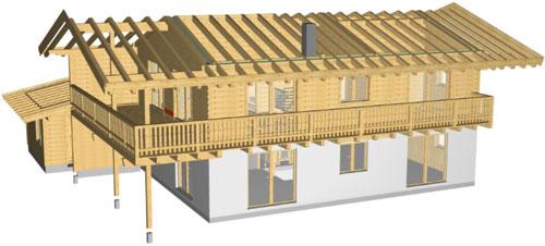 Woodcon Modul B Holzrahmen-/Blockbau CAD