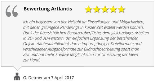 Bewertung Artlantis