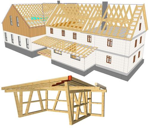 Woodcon Modul A Dach-/Holzbau CAD