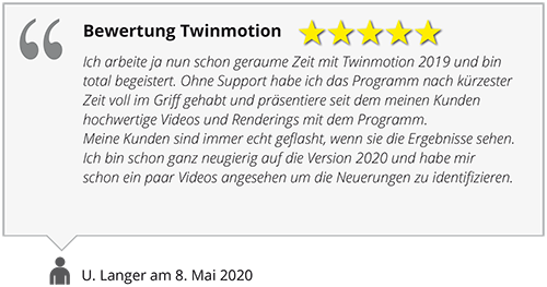 Twinmotion Bewertung