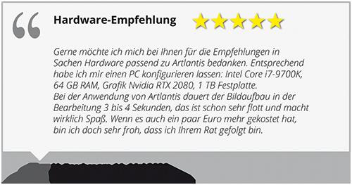 Artlantis Hardware-Empfehlung