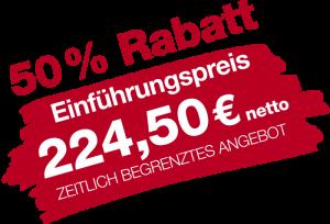Einführungspreis 50 Prozent Rabatt